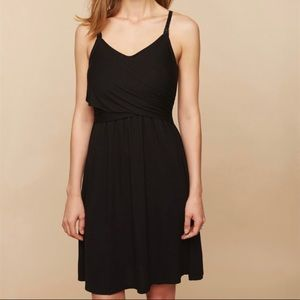 Black Clip Down Twist Front Nursing Nightgown